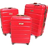 Juego de 3 maleta trolley abs 'Murano'rojo (51/61/71 cm).