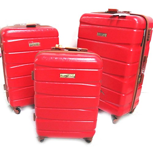 Set of 3 abs trolley suitcase 'Murano'red (51/61/71 cm (0.00'') ).