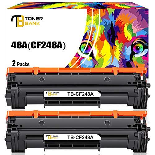 Toner Bank Compatible Toner Cartridge Replacement for HP 48A CF248A Toner Cartridge HP Laserjet Pro M15w MFP M29w M28w Toner M15a M28a M29a M16a M16w M15 M29 M28 M31 Toner Printer Ink (Black, 2-Pack)