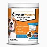ThunderWunders Dog Calming Chews | Thiamine, L-Tryptophan, Melatonin and Ginger | Can Help Relieve Stress from Separation, Storms, Fireworks & Travel (180 Count)