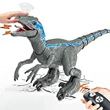 """Remote Control Dinosaur Toys 26"""" Big for Kids 8-12 Boys Girls, Realistic Rechargeable Walking Velociraptor with Light Sound Touch Sensing, RC Robot Toys Birthday Party Gifts for 5-7 8 10 12 Year Old"""