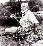 Ernest Hemingway with Leopard He Has Killed In Uganda
