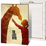 Last of Us - Póster de pintura sobre lienzo, decoración del hogar para sala de estar, arte moderno y moderno (40 x 50 cm)