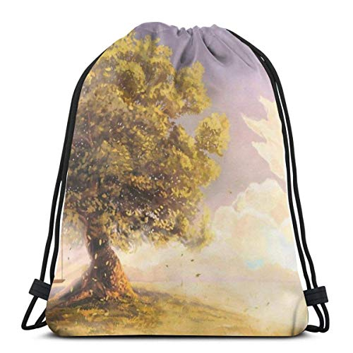 Gym Drawstring Bags Backpack Tree Swing Sackpack Tote For Traveling Storage Shoe Organizer Saving Water Bottle Student