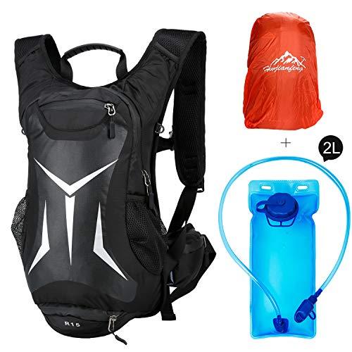 RUI NUO Mochila de hidratación para bicicleta, impermeable, ligera, bolsa de...
