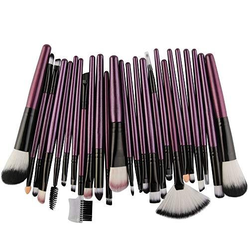 Make-up kwastenset, premium synthetische foundation blending gezichtspoeder contour oogschaduw (25 stuks)