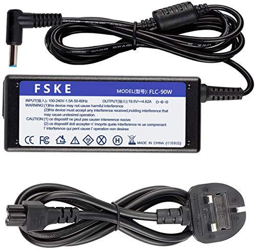 FSKE 90W 19.5V 4.62A Laptop Charger for HP 741727-001 PPP012D-S PPP009C Spectre x360 elitebook 840 G3 G4 Notebook AC Adapter UK Power Supply 4.5 x 3.0mm