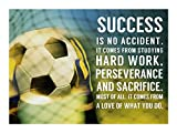 Success Soccer Quote by Sports Mania Art Print, 37 x 28 inches