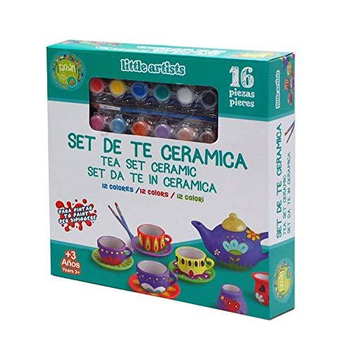 Tachan- Set de té cerámica Little Artists, Color surtido (CPA Toy Group...