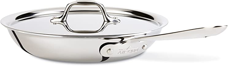 All-Clad D3 Stainless Cookware, 12-Inch Fry Pan with Lid, Tri-Ply Stainless Steel, Professional Grade