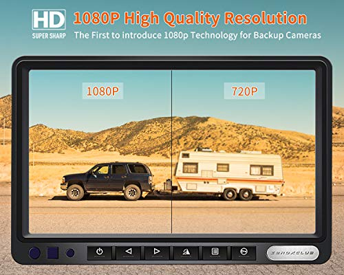 ZEROXCLUB HD Wired Backup Camera System Kit,Sharp CCD Chip, 100% Not Wash Up,IP69 Waterproof Rear View Camera + 7'' LCD Reversing Monitor for Truck/Semi-Trailer/Box Truck/RV (ERY01)