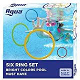 Aqua Classic Dive Rings, 6 Pack, Pool Toys for Kids, Toddlers, Teens, Pool Game, EZ Grab Large Diameter Swim Diving Rings