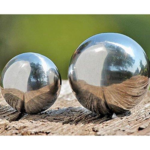 Boltze Dekokugel, Gartenkugel Galaxy in Silber aus Edelstahl, 1 Stück, Ø ca. 6,5 cm