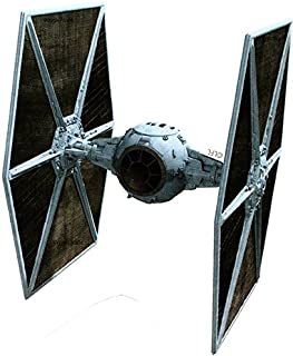 4 Inch Imperial Galatic Empire Tie Fighter Ship Star Wars Classic Episode IV Removable Wall Decal Sticker Art Home Decor Kids Room-3 1/2 Inches Wide By 4 1/2 Inches Tall