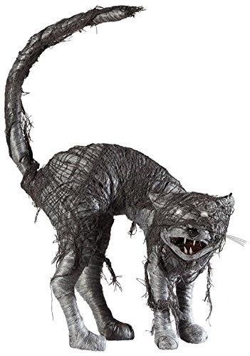 Widmann Katze Zombie mit Augen LED-Licht für Erwachsene, Schwarz/Rot, Einheitsgröße, VD-WDM07091