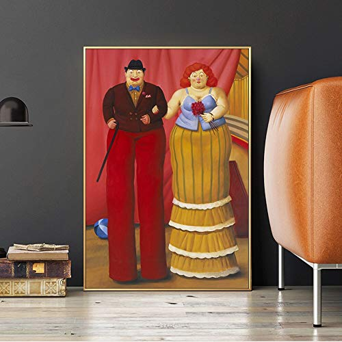 Clown abstract posters and prints dancing party wall art canvas painting living room decoration picture 50X75CM