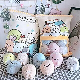 MANGMOC A Bag of Rabbit Pudding Plush Toys Simulation Snack Throw Pillow I Pink Sakura Rabbit Plush Creative Toys for Children/ Must-Have 7 Year Old Girl Gifts The Favourite Anime Toddler Superhero