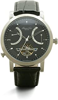 Kenneth Cole New York Men's Automatic Stainless Steel Case Leather Strap Black,(Model:KC8015)