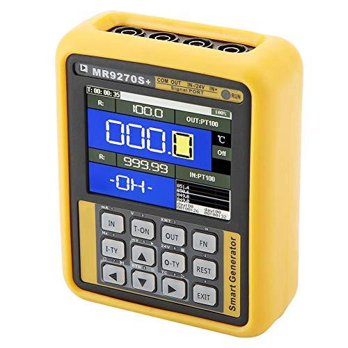 Generador de señal de mano, transmisor de corriente de frecuencia, 4-20 mA, voltaje de corriente de calibración, termopar AC100-240V(EU plug)