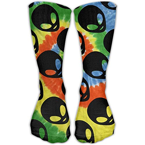 Bigtige Hombres Mujeres Classics Crew Calcetines Black Face Alien Tie-dye Calcetines deportivos...