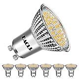 EACLL Bombillas LED GU10 3000K Blanco Cálido 10W Fuente de Luz 1050 Lúmenes Equivalente 80W Halógena. AC 240V Sin Parpadeo Focos, 120 ° Spotlight, Blanca Cálida Lámpara Reflectoras, 6 Pack