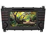AWESAFE Autoradio mit Navi für Mercedes-Benz C Klasse W203 W209 Unterstützt DAB+ Bluetooth CD DVD RDS Radio 2 Din 7 Zoll Display