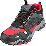 Fila Men's Oakmont TR MID Hiking Sneakers FILA RED/Castlerock/Black 7.5 US