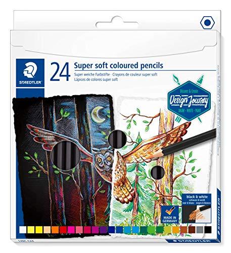 STAEDTLER 149C C24 Buntstifte (klassisches Sechskantformat, super weiche Mine, hohe Deckkraft auf hellem und dunklem Papier) Kartonetui mit 24 leuchtenden Farben