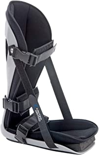 United Ortho Plantar Fasciitis Adjustable Leg Support Brace Fits Right or Left Foot for Soreness Relief, Foot Pain and Stretching, Medium, Black