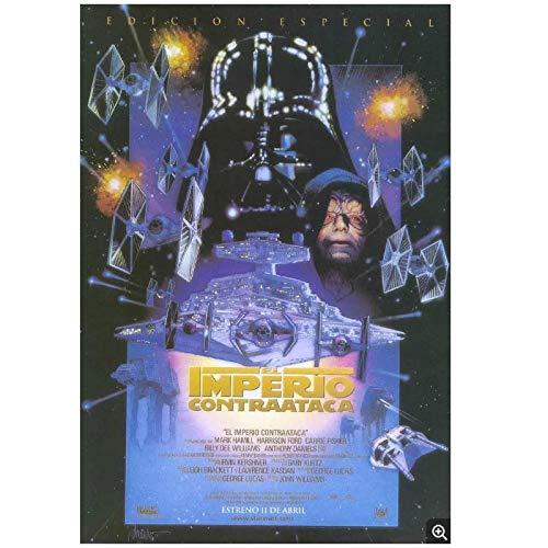 Star Wars 2: El imperio contraataca (1980) Mark Hamill Movie Fashion Trend Hermoso hogar Art Decor Poster Wall Deco Gift -20x28 inch Sin marco