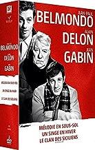 Belmondo-Delon-Gabin : M??lodie en sous-sol + Un Singe en hiver + Le Clan des Siciliens