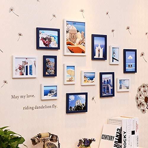 ZPQJH fotolijst Multi-foto fotolijst Combinatie Set DIY Home muur opknoping fotolijst Meerdere foto's Voor Woonkamer Slaapkamer Achtergrond Decoratie