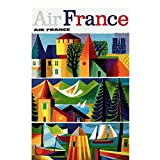 Air France Paris Retro Vintage clásico viajes carteles cartel lienzo pared decoración del hogar 50x70 cm x1 sin marco