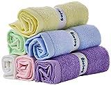 Bielay, Set di 6 Asciugamani per Bambini, Multicolore, 25 x 25 cm Ognuno, Morbidissimi, Su...