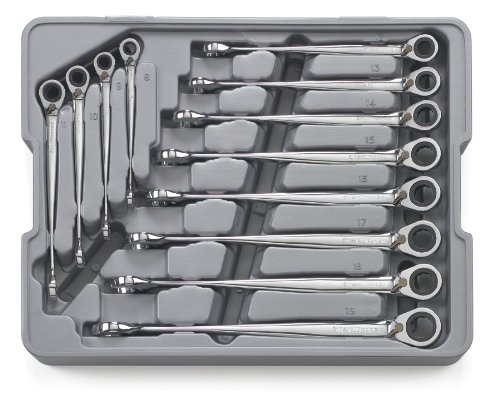 GEARWRENCH 12 Pc. 12 Pt. Reversible XL X-Beam Ratcheting Combination Wrench Set, Metric - 85388