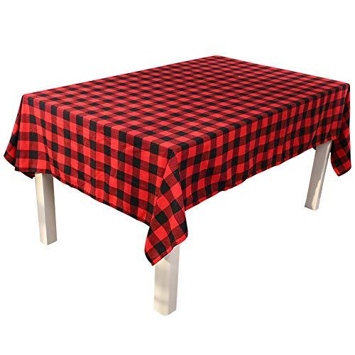 XuBa Tartan sprei met rode Schotse ruiten, voor tafel/kussen/placemats voor kerstdecoratie
