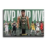 バスケットボール選手ヤニス・アデトクンポポスター家の装飾絵画キャンバスプリント現代壁アート漫画写真寝室20x30cm(8x12inch)フレームなし