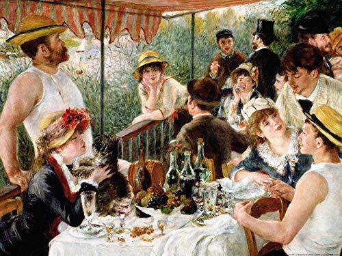 1art1 Pierre Auguste Renoir Poster Reproduction - Le Déjeuner des Canotiers, 1880-1881 (80 x 60 cm)