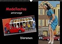 Modellautos unterwegs - Dioramen (Wandkalender 2022 DIN A3 quer): Kleine Modellautos werden in kuenstlerisch gestalteten Dioramen praesentiert. (Monatskalender, 14 Seiten )
