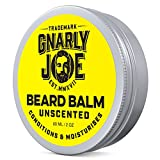 Gnarly Joe Unscented Beard Balm | burro di karitè, jojoba & argan oil leave-in cera ammorbidente e balsamo per gli uomini | 60 ml