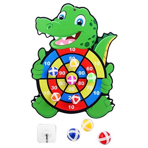 Katyma, Tablero de Dardos de Velcro para niños, Juguete de cocodrilo de...