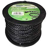 Riegolux 107678 Hilo Desbrozadora Nylon Helicoidal, Negro, 4 mm x 100 m