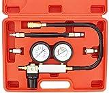 JOMAFA - Kit comprobador de compresión Detector de fugas del cilindro Medidor de presión del cilindro de coche EN BAR y PSI