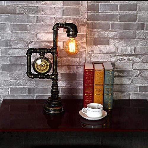 DJY-JY País americano creativo retro lámpara de mesa bar restaurante café industrial tubo de agua lámpara de mesa estudio noche lámpara 27 * 46 cm clásico Noble