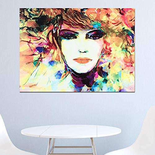 Geiqianjiumai Blumenmädchen Bild leinwand Wand Wohnzimmer Dekoration wandbehang rahmenlose malerei 30x45 cm