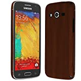 Skinomi Dark Wood Full Body Skin Compatible with Samsung Galaxy Avant (Full Coverage) TechSkin with Anti-Bubble Clear Film Screen Protector