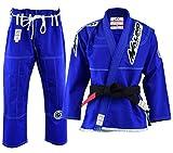 Malino Traje de Jiu Jitsu Gi brasileño Parche Tejido Perla 450Gsm Azul Tamaño A4