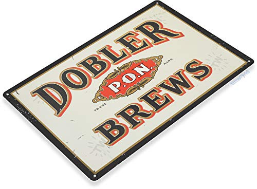 Tinworld TIN Sign Dobler Brews Decor Wall Art Bar Pub Beer Shop Store Cave A052