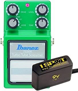 Ibanez TS9DX Turbo Tube Screamer and Truetone 1 Spot Space Saving 9v Adapter