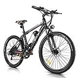 Vivi Bicicletas Montaña Eléctricas 350W, 26'' Bicicleta Montaña Adulto, Bicicleta Eléctrica con Batería Extraíble de 36V/8Ah, Engranajes de Shimano 21 Velocidades